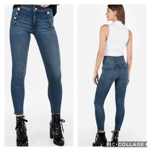 Express High Waist Ankle Skinny Jeans Stretch 6R